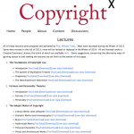 CopyrightX lectures fully available to the public